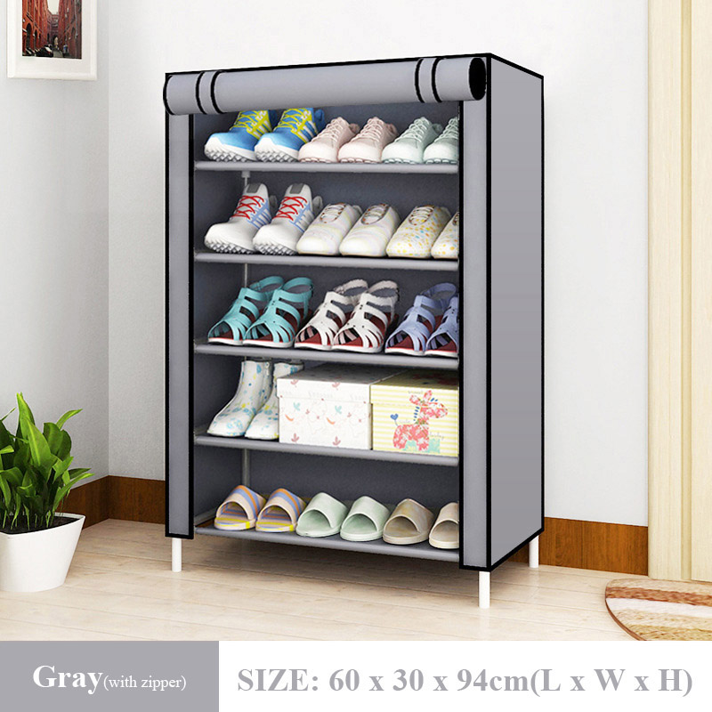 Hot Simple Shoe Rack Non-Woven Dustproof Storage Shoe Cabinet Shoemaker Storage Bag Space Saving Shoe Storage 2