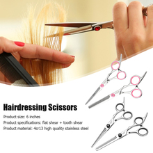 2pcs Hair Cutting Thinning Set Professional Hairdressing Flat Scissors Bang Haircut Kit for Barber Shop Styling Tool