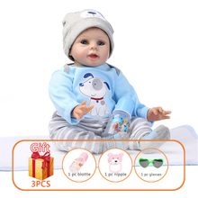 NPK 55cm Baby Silicone Dolls Silicone Reborn Baby Dolls Simulation Baby Soft Doll Toys Rubber Reborn Toddlers Toys For Children npk american pink girl dolls with long hair simulation vinyl silicone reborn baby for alive children play house toys