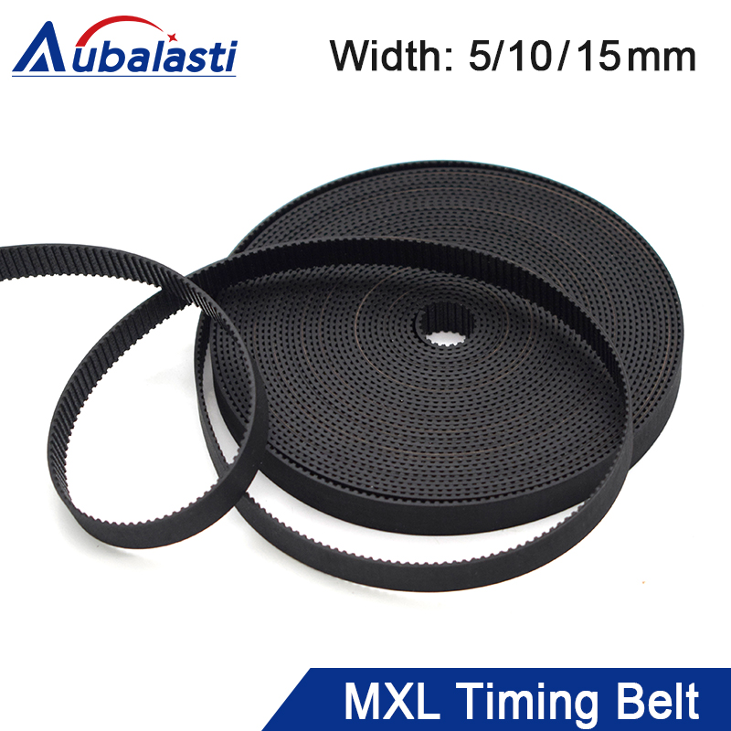 Aubalasti <font><b>MXL</b></font> Open-Ended Timing <font><b>Belt</b></font> Width 5 10 15mm Transmission Rubber <font><b>Belts</b></font> For CO2 Laser Engraving Cutting Machine image
