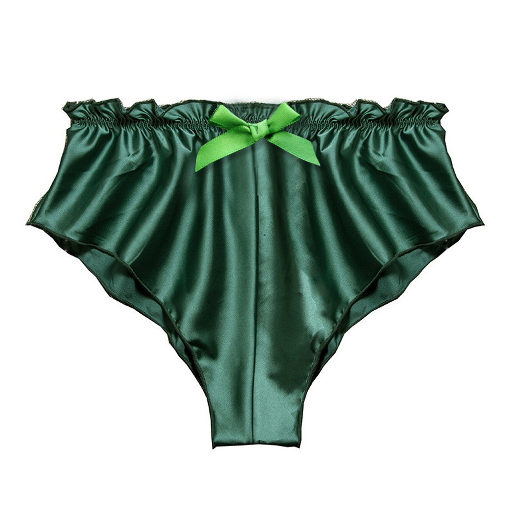 Feitong Women's Underpants Silk Satin Sexy Lingerie Flowers Floral Lace Up Underwear Women ShortsS-XXXL нижнее белье женское