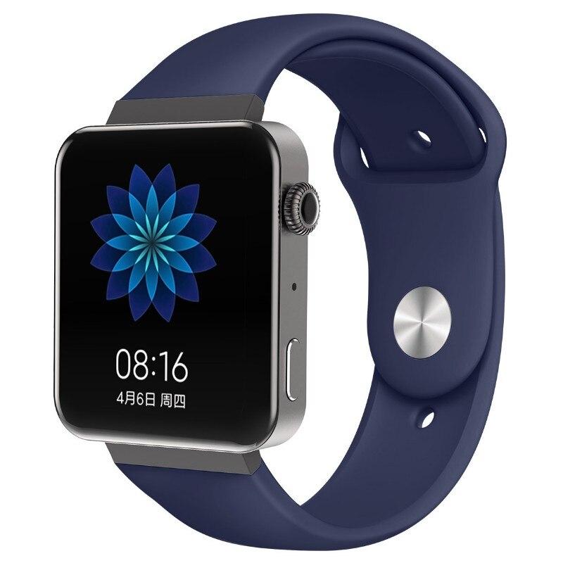 Мягкий силиконовый ремешок для часов для xiaomi smart watch, новинка, сменный ремешок для mi watch, резиновый ремешок для часов, аксессуары - Цвет: 8070