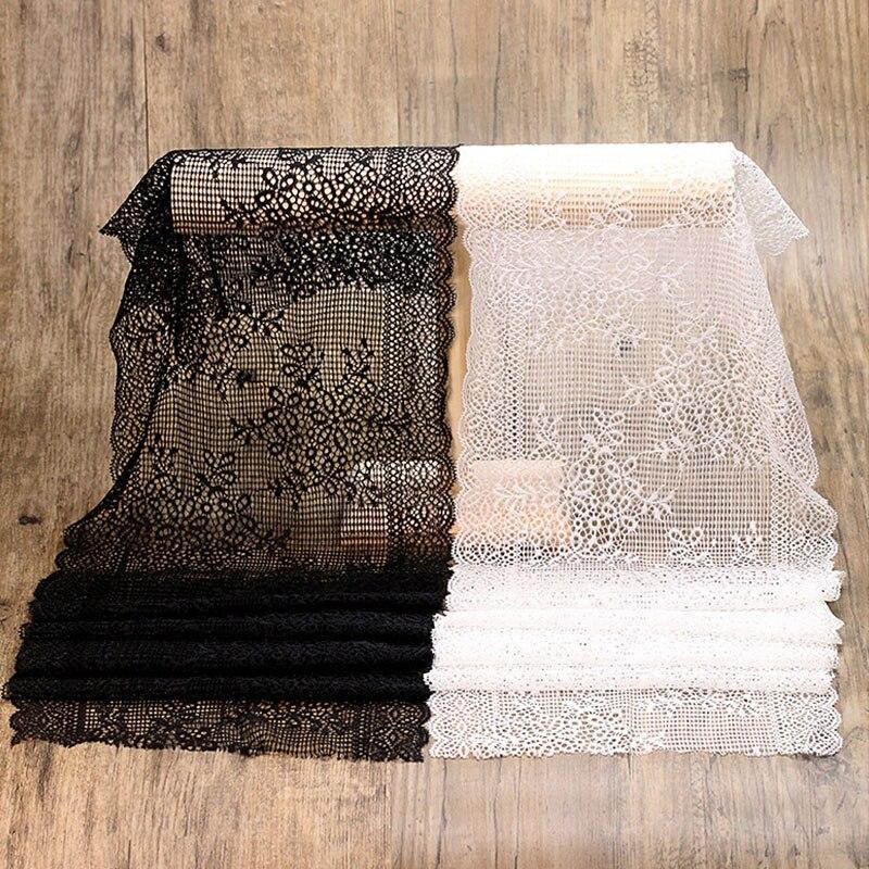 100yards/ Lot Lace Fabric DIY Decorative High Quality White Black  Lace Trim Wedding Dress Crafts Sewing Fabric