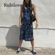 Rubilove Strap off shoulder beach summer dress women Sexy backless bodycon Christmas elegant party dresses vestidos 2019