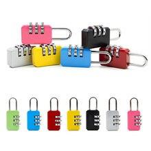 Liga de zinco segurança mala viagem bagagem código cadeado bloqueio mini pequena combinação senha bloqueio 3 dial dígitos metal código bloqueio