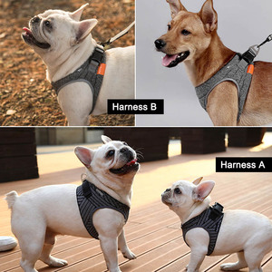 Image 5 - Petkit רך לחיות מחמד כלב לרתום אפוד לנשימה חיצוני מרופד כלב לרתום אפוד מתכוונן עבור גור קטן בינוני כלבים Harnais Chien