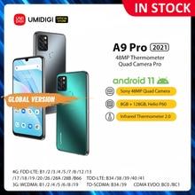 "Umidigi A9 Pro 2021 Android 11 Ram 8Gb 128Gb Samrtphone 48MP Ai Matrix Quad Camera Helio P60 Octa core 6.3 ""Fhd + Display 4150Mah"