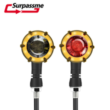 Pair Universal Waterproof Motorcycle Led Turn Signal Warning Lights Signal Lamp Sequential Flasher Racing Motorbike Accessories