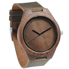 Dropshipping 2020 Handcrafted Original Custom Oem Leather Strap Walnut Wood