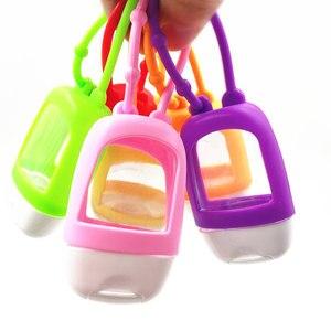 Image 3 - 30ml ללא מים סיליקון אמבט גוף שלי יד Sanitizer מחזיק נסיעות Pocketable אחסון בקבוקים וצנצנות עם ריק אמבטיה בקבוק