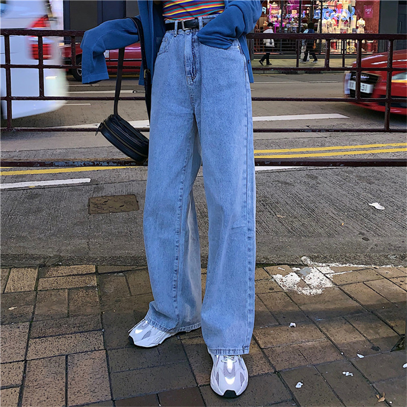 JUJULAND Basic Denim Jeans Classic Women High Waist Jeans Vintage Mom Style Jeans High Quality Cowboy Denim Pants 690