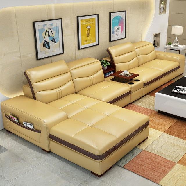 EZ-home Modern simple leather multi-functional sofa 5