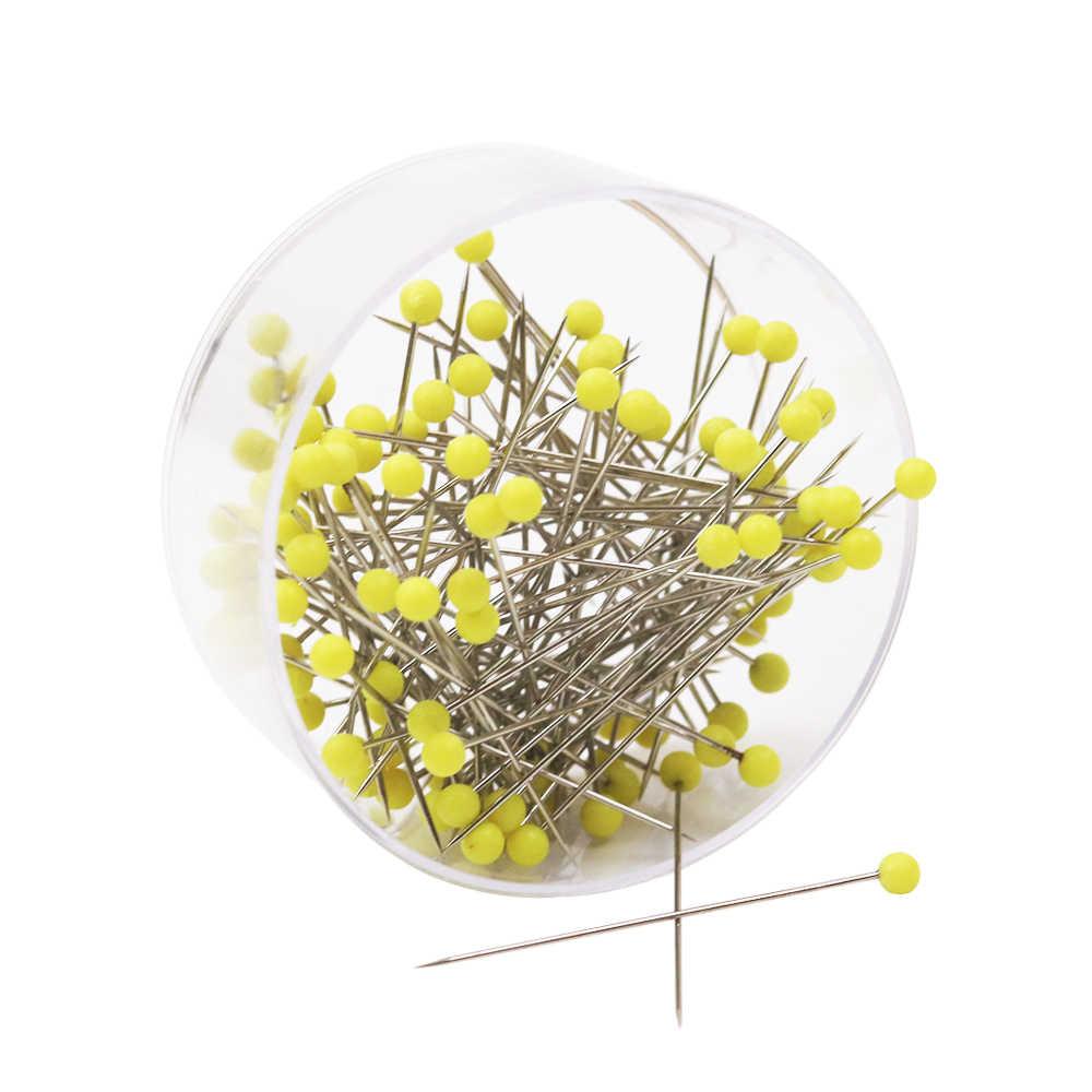100pcs Decorative Mixed Colors Pearl Head Pins Straight Pins Dressmaking DIY