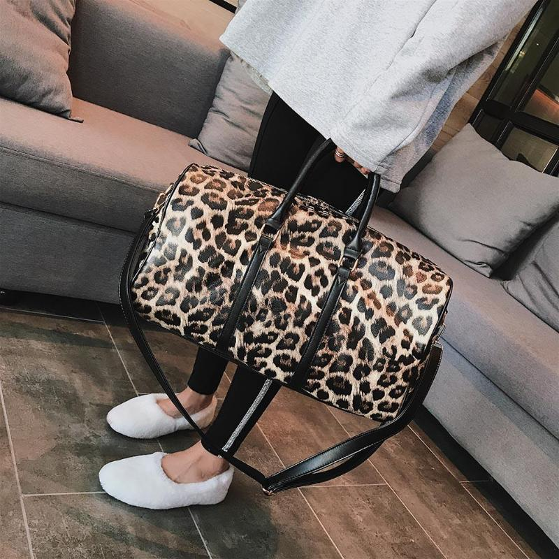 Women Sling Crossbody Bag Large Capacity Leopard Print Pattern Handbag Shoulder Travel Bags