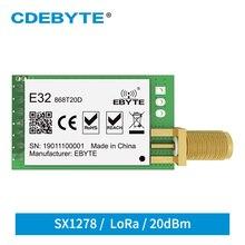 10 개/몫 LoRa SX1276 송신기 수신기 868 MHz 모듈 E32 868T20D 20dBm UART IoT 868 MHz SMA SX1278 무선 송수신기