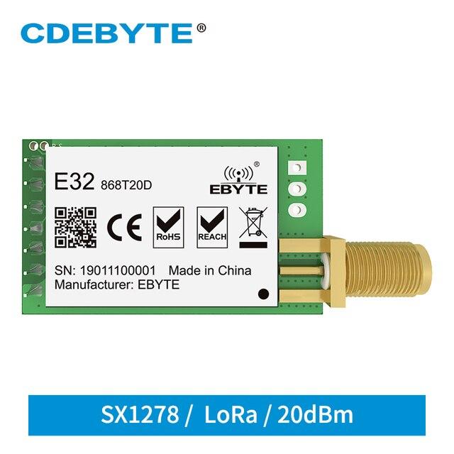10pc/lot LoRa SX1276 Transmitter Receiver 868MHz Module E32 868T20D 20dBm UART IoT 868 MHz SMA SX1278 Wireless Transceiver