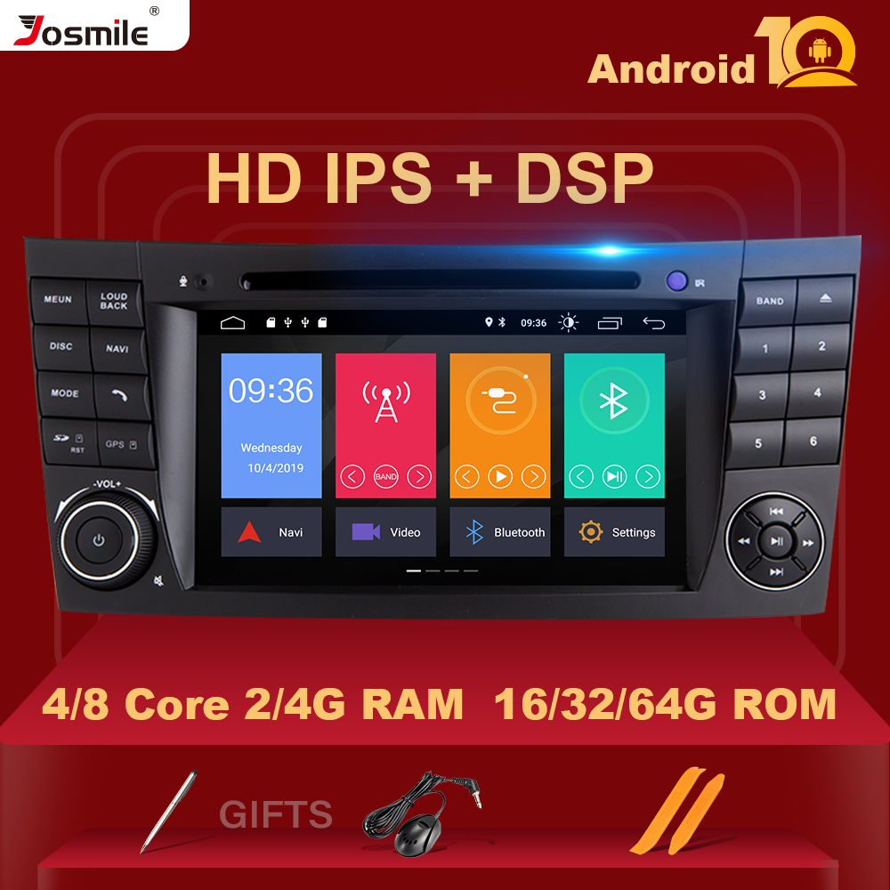 ISP DSP 4GB RAM Android 10 Car DVD Multimedia For <font><b>Mercedes</b></font> Benz E-class <font><b>W211</b></font> E200 E220 E300 E350 E240 E280 CLS CLASS W219 <font><b>GPS</b></font> image