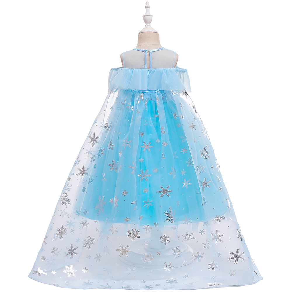 2019 Frozen Princess Skirt Children Aisha Princess Dress Girls Costume Halloween Performance Formal Dress