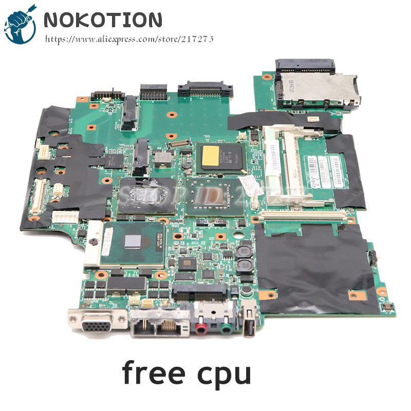 "NOKOTION For Lenovo IBM thinkpad R61 T61 15.4"" Laptop Motherboard 43Y9047 11S42X6803 42W7652 965PM DDR2 free cpu"