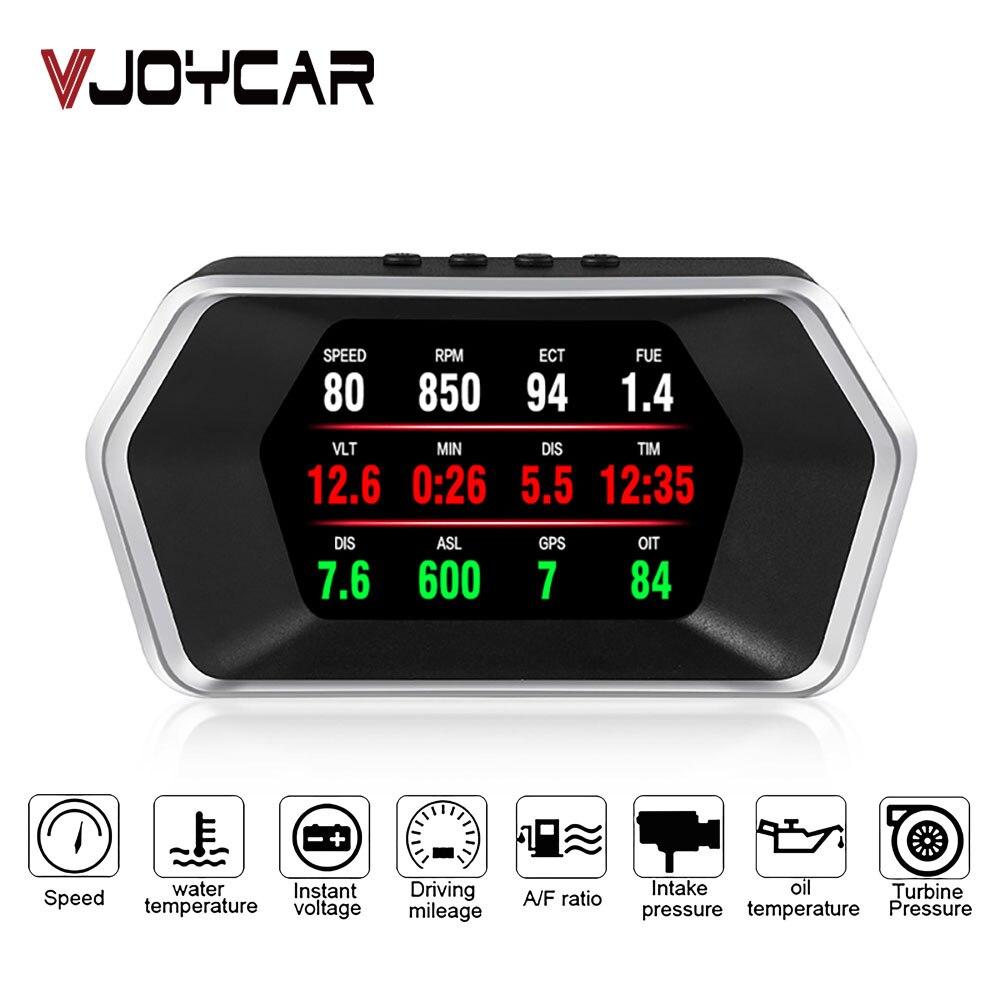 Nueva pantalla frontal OBD Car Electronics HUD Display P17 OBD2 + GPS modo Dual velocímetro GPS código defectuoso claro PK C1 RPM Temp