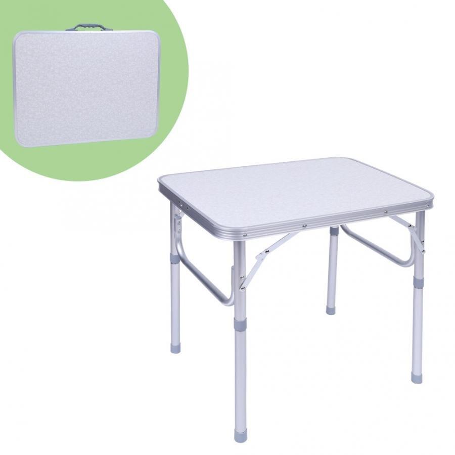 Mesa Plegable de Aluminio Port/átil de Escritorio Ligero al Aire Libre para Acampar Barbacoa lahomie Mesa de Aluminio de Picnic con Bolsa