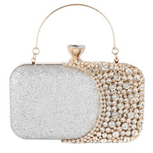 Hot Selling Womens Crystal Rhinestone Evening Clutch Bag Wedding Purse Bridal Prom Handbag Party Bag -B5 цена 2017