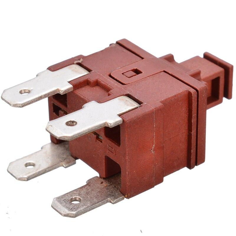5Pcs KDC-A04-88 TUV  10A 250V AC SPST 2 Pins Push Button Power Switch