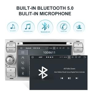 Image 3 - Isudar PX6 2 Din Android 10 GPS Autoradio 7 Cal dla forda/Mondeo/Focus/Transit/C MAX/S MAX/Fiesta samochodowy odtwarzacz multimedialny 4GB RAM