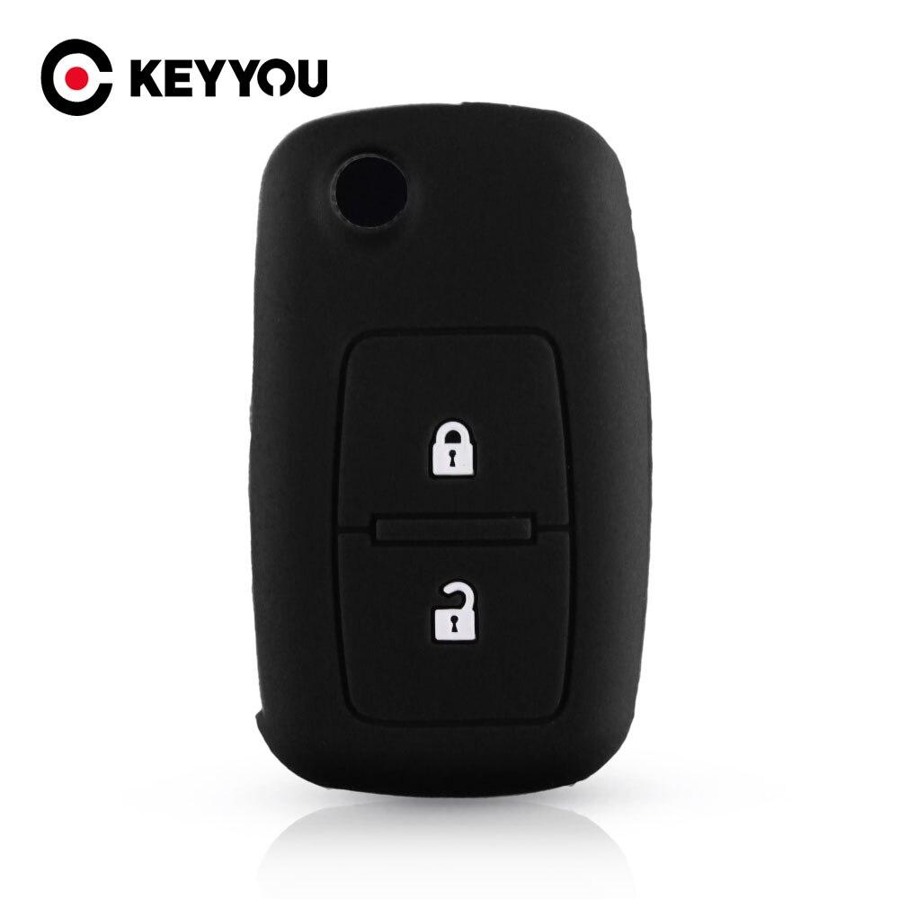 Etui clés de voiture en caoutchouc Silicone KEYYOU pour VW Volkswagen Amarok Polo Golf 5 6 7 MK4 Bora Jetta Altea 2 boutons