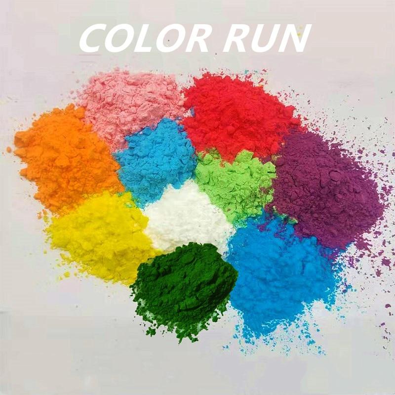 The Color Run Corn Flour Throw Party Supplies FoodGrade Powder Colour Spray Fun Bar Props Wedding Event Decorations 100g500g/bag