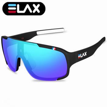 ELAX marka 2019 nowy odkryty Sport kolarstwo okulary mężczyźni kobiety UV400 rower mtb okulary rowerowe Mountain Bike Eyewear tanie i dobre opinie 52 mm cycling glasses MULTI 146 mm Poliwęglan Octan Jazda na rowerze