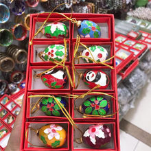 Wholesale 10PCS cloisonne enamel ball Christmas decoration Chinese style features(China)