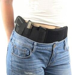 Tactique pistolet étui militaire Portable caché étui large ceinture téléphone Portable étui en plein air chasse tir défense étui