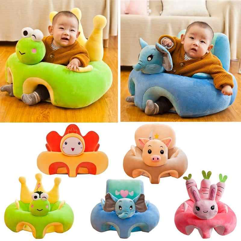Baby Seat Sofa Support Seat Cover Baby Plush Chair Learning To Sit Toddler Nest Puff Washable without Filler Cradle Sofa Chair