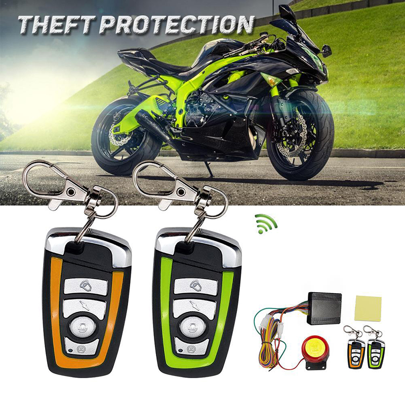 Universal Motorcycle Burglar Alarm System Scooter Motor Bike Anti-theft Security Alarm Two-way Protection Remote Control Key Fob
