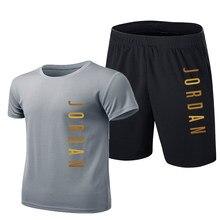 Nova malha moda 23 calções de camisa masculina terno verão 2 roupas esportivas + shorts terno masculino praia casual camisa terno M-4XL