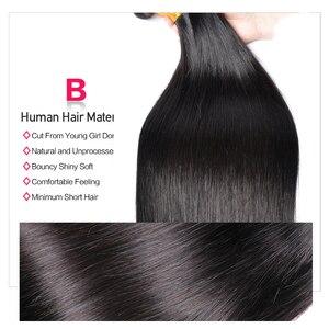 Image 4 - 30 Cal proste włosy 3 zestawy Deal ludzkich włosów 3 / 4 wiązki Gem piękno Remy włosy peruwiańskie pasma włosów
