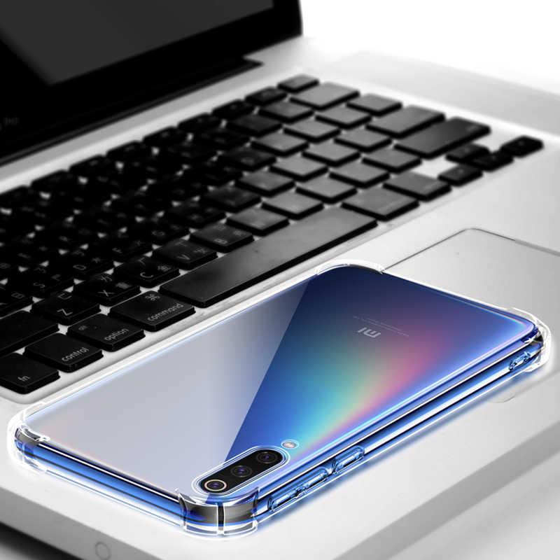 Antiurto Per Il Caso di Xiaomi Redmi Nota 10 Pro 9 6 9T A3 Lite 9s 8 7 6 5 k20 K30 Pro 8T 8A Trasparente di Cristallo Airbag Casi Della Copertura