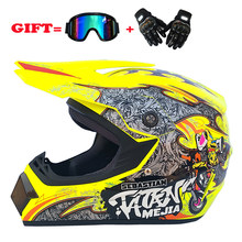 NIEUWE professionele Motocross racing Casque hors route Casque Moto capacete Moto Cartoon off-road helm voor kinderen Motorfiets(China)