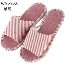 цены Autumn Home Slippers Women Slides House Flip Flops Indoor Flats Couple Shoes Spring Anti-Skid Slippers Soft Cotton Pantufa Mujer