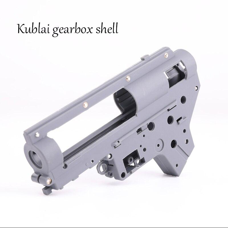 KUBLAI Gearbox Housing K Series Water M4 Gel Blaster Toy Gun Accessories Repair Parts Nylon Gearbox Kublai Khan