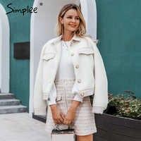 Simples de duas peças de pele do falso conjuntos de tweed feminino outono inverno saia conjuntos retalhos botões com zíper senhoras do escritório casaco ternos