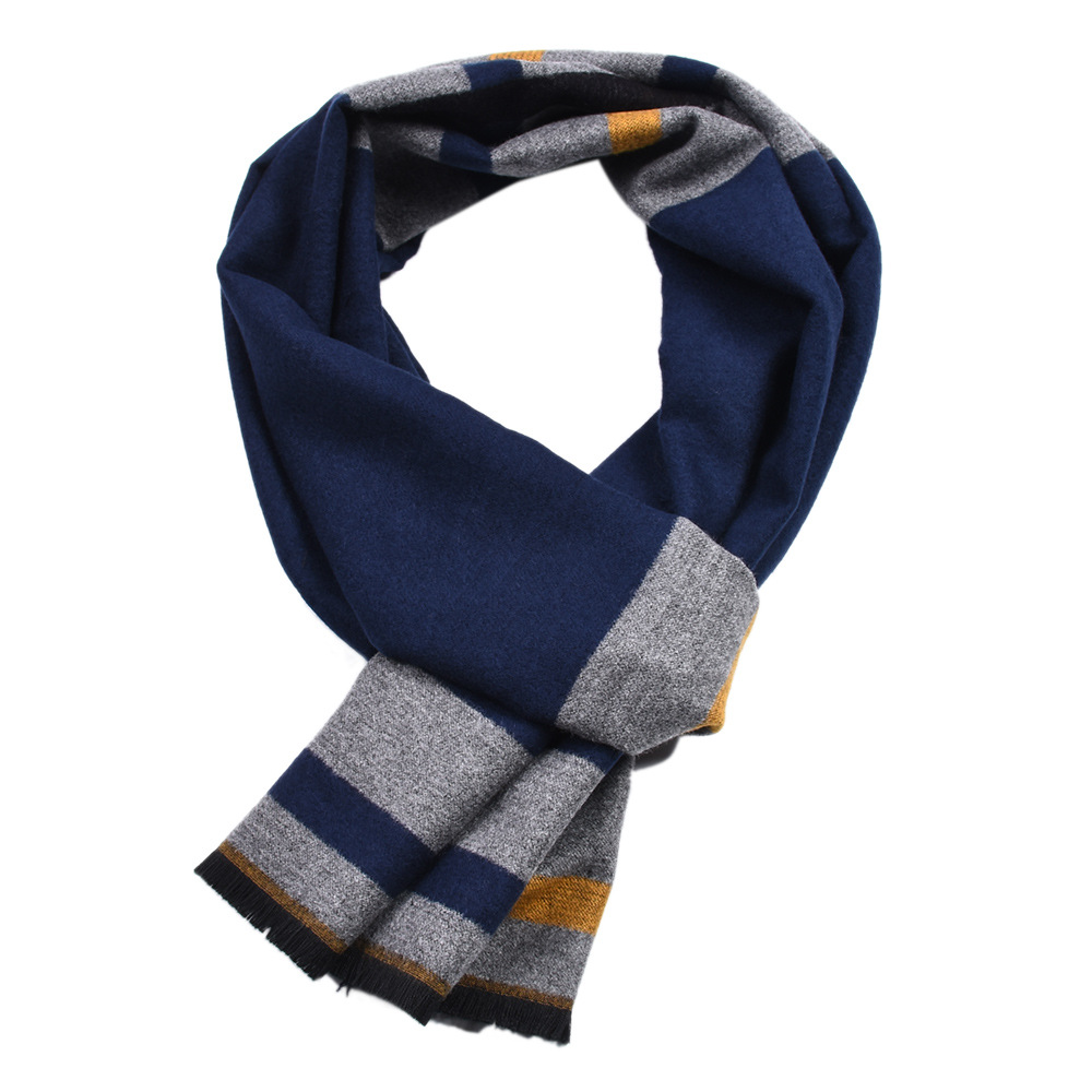 2019 Luxury Brand Winter Men Cashmere Scarf Warm Patchwork Plaid Scarves Shawls Male Sjaal Foulard Business Scarf Bufanda