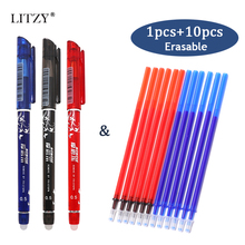 Erasable Gel Pen Set 0.5mm Refill Rod Magic Erasable Pen Blue Black Red Ink Office School Stationery Student Writing Tools 3 pcs blue ink erasable pen student stationery writing pen multifunction gel pen 0 5mm tip writing fluently strong quality