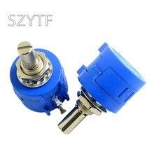 5 pces 3590s-2-103l 1k 2k 5k 10k 20k 50k 100k 100r 200r 500r precisão multi-turn potenciômetro qualidade resistor ajustável