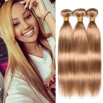 Tissage lisse ombre blond brésilien cheveux naturels lace frontal non traiter de produit chimique avec des cheveux vierges du donneur et coloré.