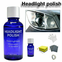 Universal 10/30ML Car Headlight Repair Liquid Lamp Renovation Agent Glass Clean Brightener Window Repair Set  Accessories TSLM1 4