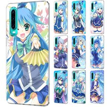 Mobile Phone Case For Huawei P30 P20 P10 P9 P8 P Sart Z Lite Pro Hard Cover Sekai Ni Shukufuku Aqua Kono Subarashii(China)
