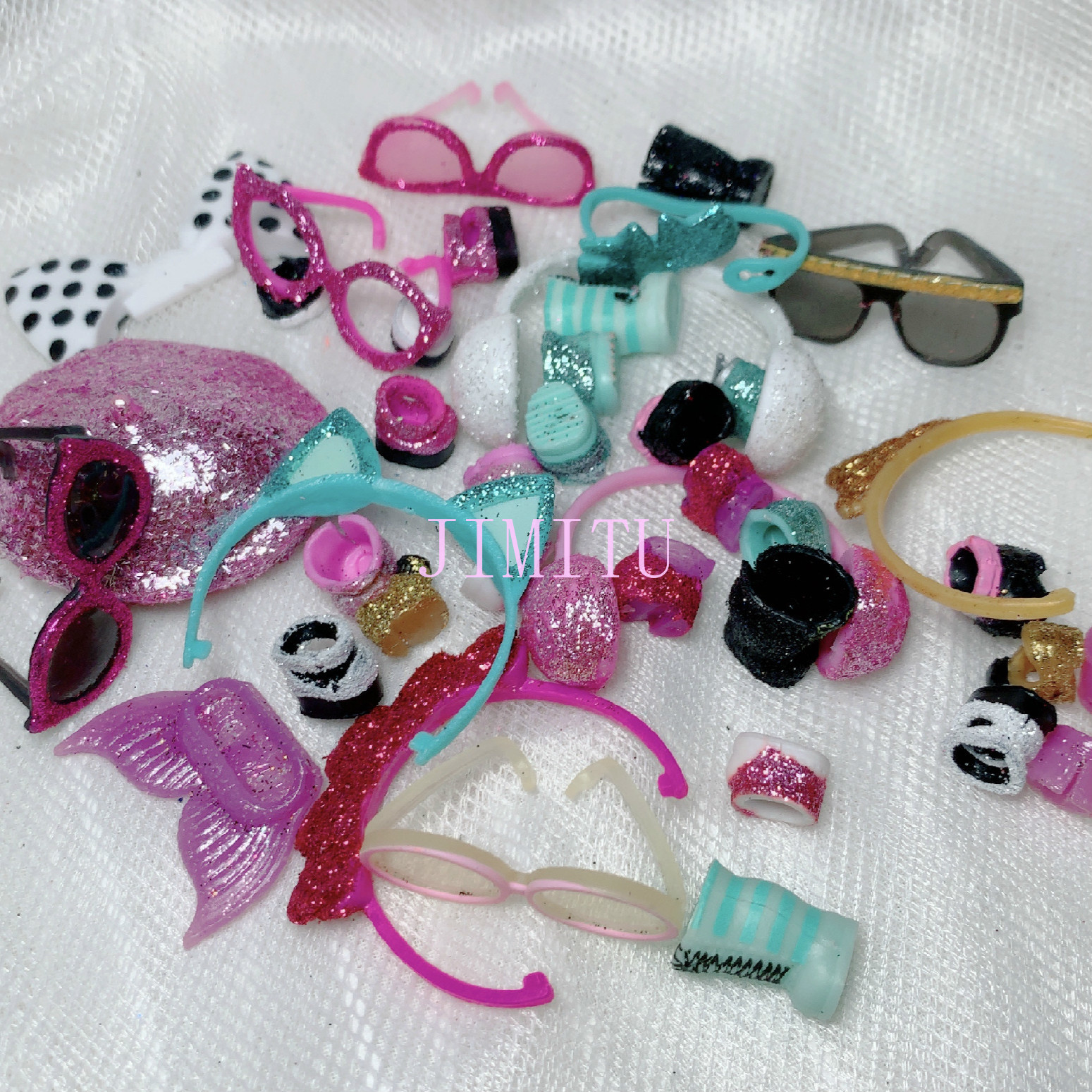 Original Shiny Lols Accessories Doll Toys For Glasses, Shoes And Headwear