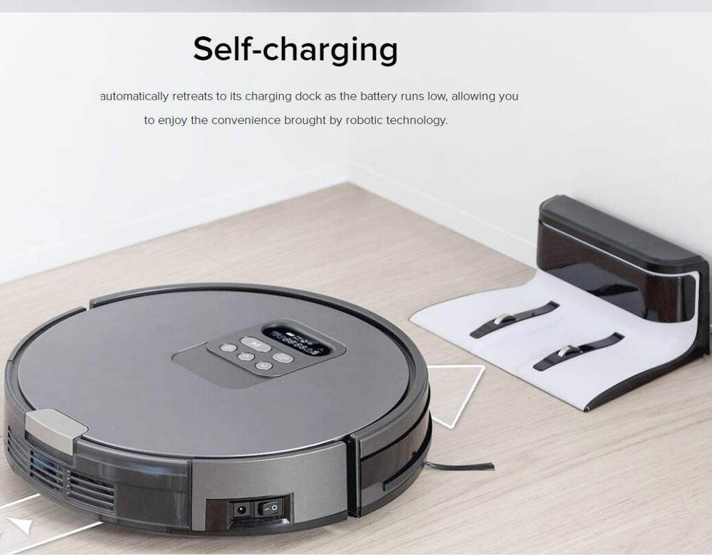 ILIFE Robot Vacuum Cleaner Intelligent planning path and time for clean,romte control, Self-Charge Wet Mopping GPS navigation 5